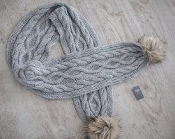 Abercrombie & Fitch Knitted Scarf grey-light grey