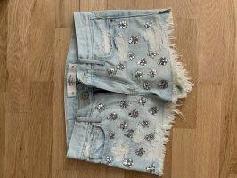 Abercrombie & Fitch Pantalón corto azul celeste