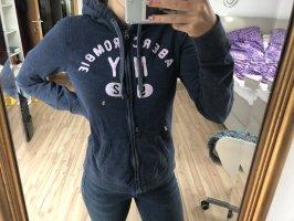 Abercrombie & Fitch Chaqueta estilo camisa azul-rosa
