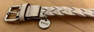 abro Braided Belt white-silver-colored