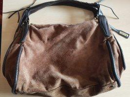 abro Shoulder Bag dark brown-brown leather