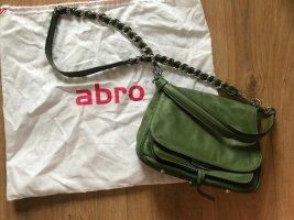 Abro Tasche Leder Kette silber