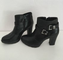 Platform Booties black-silver-colored