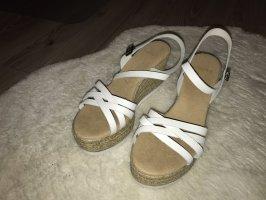 Sandalias con plataforma blanco-crema