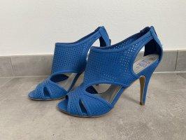 Blanco Sandały na obcasie niebieski-niebieski neonowy