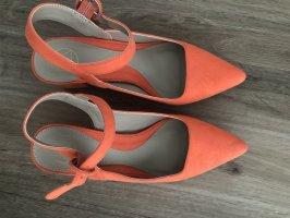 Absatzschuhe in orange