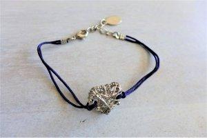 Accessorize Armband lila blau silber Herz Dirndl Wiesn Tracht
