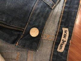 Acne Jeans met rechte pijpen donkerblauw Katoen