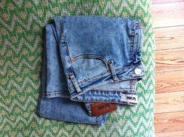 Acne Jeans met rechte pijpen azuur Katoen