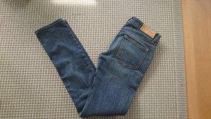 Acne Jeansy z prostymi nogawkami ciemnoniebieski Bawełna