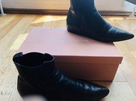 Acne Studios Wciągane buty za kostkę czarny