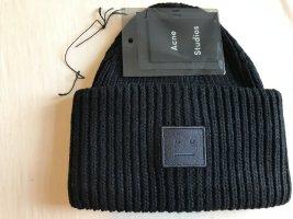 Acne Bonnet noir laine