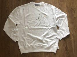 Acne Bluza dresowa biały Bawełna