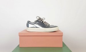 Acne Zapatilla brogue color plata-blanco Cuero