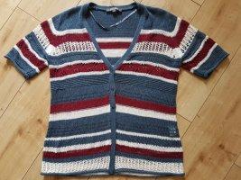 Adagio Short Sleeve Knitted Jacket multicolored polyacrylic