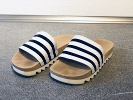 Adidas Beach Sandals black-white leather