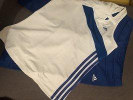 Adidas Sweatjack wit-blauw