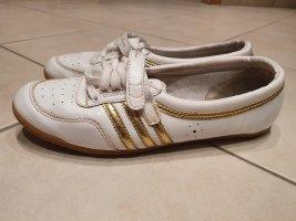 Adidas Klittenband Sportschoenen wit-goud