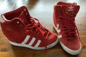 Adidas Zapatilla tipo cuña rojo