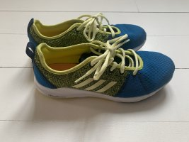 Adidas Lace-Up Sneaker lime yellow-blue