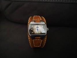 Adidas Horloge met lederen riempje bruin