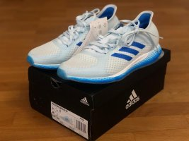 Adidas Lace-Up Sneaker white-neon blue