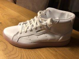 Adidas high top sneaker rosa weiß 38