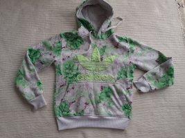 adidas hoodie gr. s 36. m 38 getragen, mit spuren, blumen
