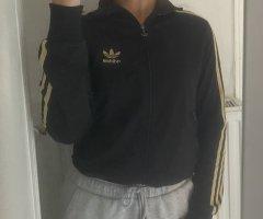 Adidas Giacca sport nero-oro