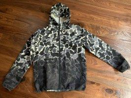 Adidas Chubasquero negro-blanco