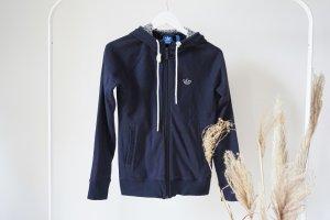 Adidas Jacke Sweatshirt Jacke blau Blümchen