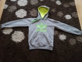 Adidas Hooded Sweater grey-neon green