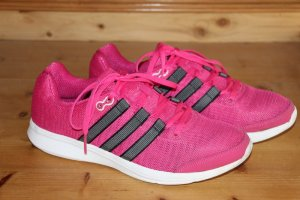 Adidas Sznurowane trampki magenta