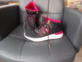 Adidas Basket montante noir-rouge fluo polyester