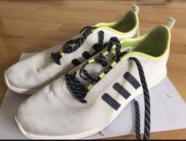 Adidas NEO Sznurowane trampki biały-żółty neonowy