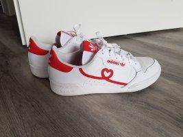 Adidas Basket à lacet blanc-rouge
