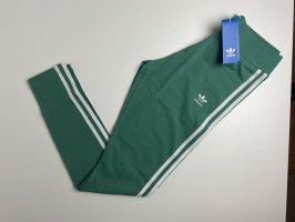 Adidas Leggings white-forest green cotton