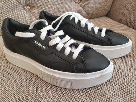 Adidas originals Plattform sneaker neu gr. 38,5 Turnschuhe schwarz weiß Schuhe