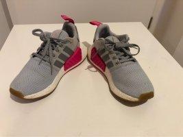 Adidas Sznurowane trampki srebrny-różowy