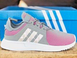 Adidas Originals X PLR J grau pink mit Swarovski Elements Luxus Sneaker NMD