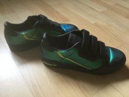 Adidas Trampki na rzepy czarny-trawiasty Tkanina z mieszanych włókien