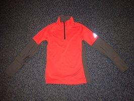 Adidas Pullover in pile grigio-arancione