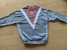 Adidas Pull oversize gris-or rose