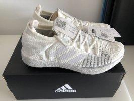 Adidas Sznurowane trampki biały-jasnoszary