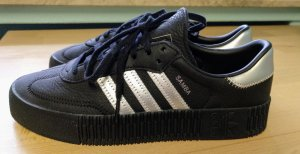 Adidas Originals Platform Trainers black-silver-colored