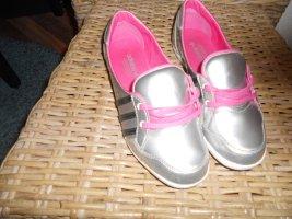 Adidas Originals Sznurowane buty srebrny-różowy Tkanina z mieszanych włókien