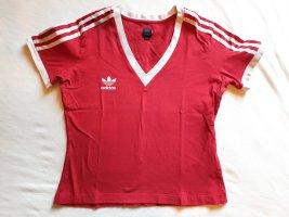 Adidas Originals V-hals shirt rood-wit