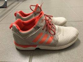Adidas Sneakers met veters lichtgrijs-neonoranje