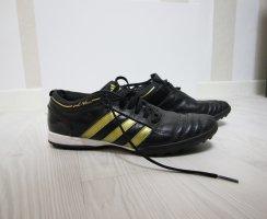 Adidas Sznurowane trampki czarny-złoto