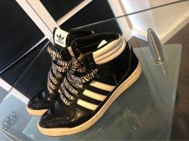 Adidas Zapatillas altas negro-blanco